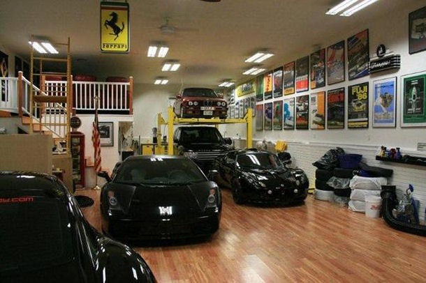 Wood Floor Garage