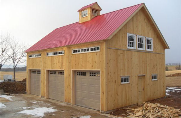 82 dream garage photos part 1 josh 39 s world for Barn style garage plans for free