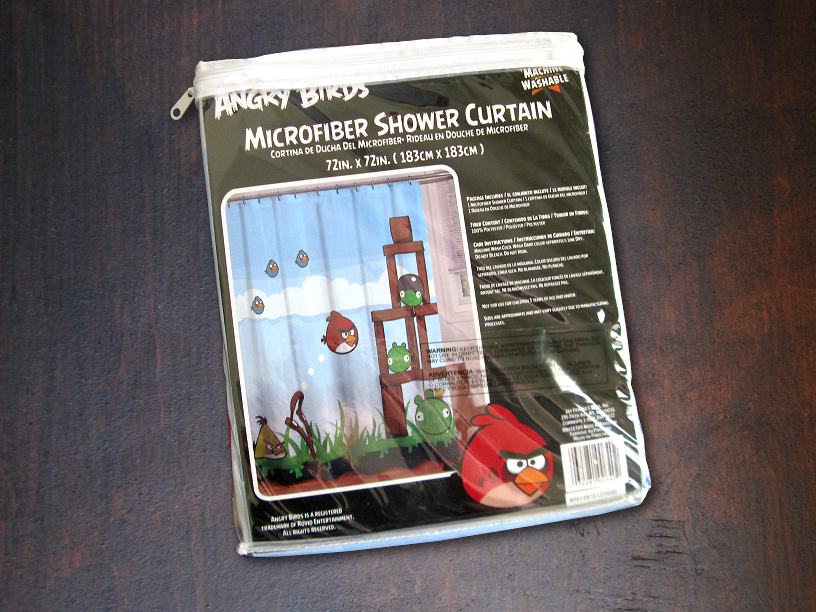 Angry Birds Shower Curtain Packaging
