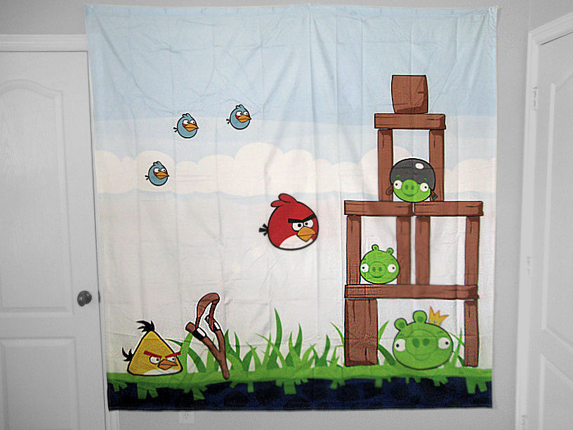 Angry Birds Shower Curtain