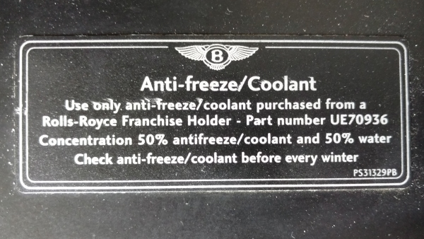 coolant-label